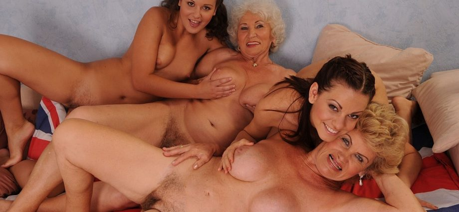 Lesbian old orgy young